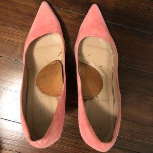 J. Crew Pink Elsie Suede Heels Size 9